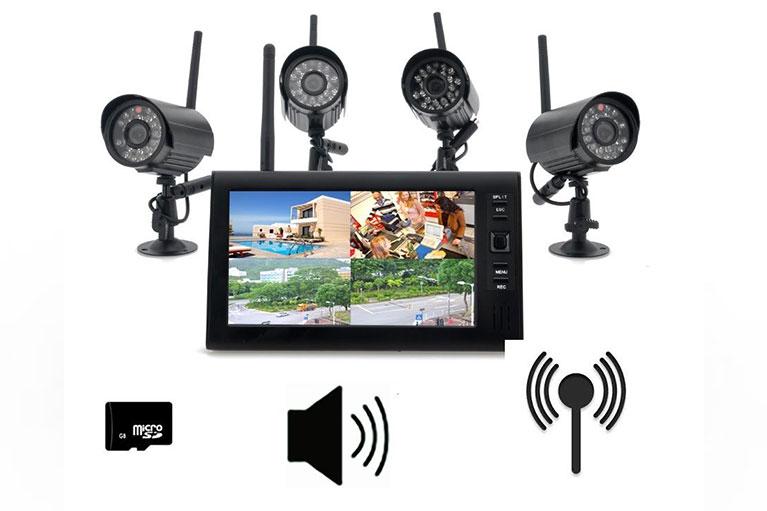telecamere di videosorveglianza con fili per negozi e casa